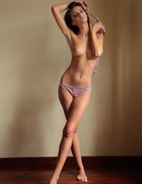 """Sunshine a's matching lingerie accentuates her slender, well-toned body and sensual allure."""
